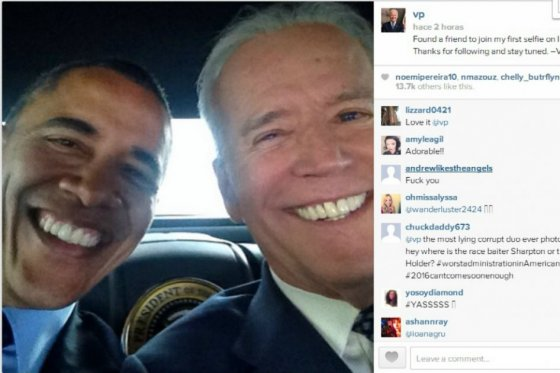 Obama y Vice Selfie