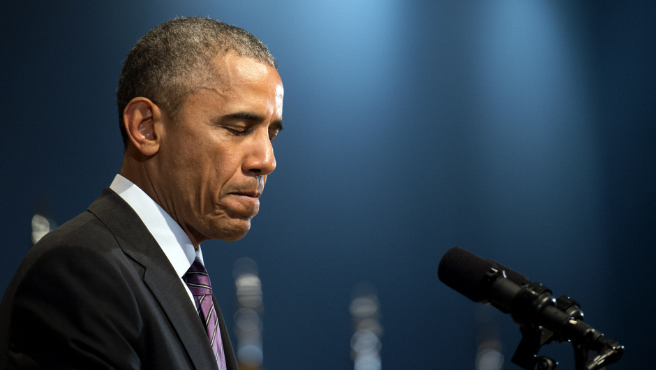 President Obama vists the Office of the Director of National Intelligence in Virginia
