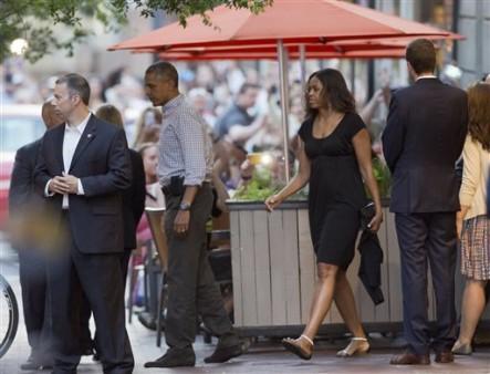 Familia Obama Va Por Comida Mexicana