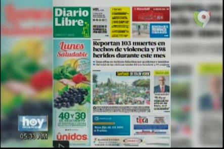 Portada De Los Principales Periódicos Del País 27-Marzo-2017