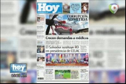 Portada de los principales Periódicos Del País 25-Oct-2016