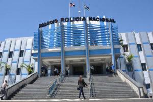 Fachada del Palacio de la Policia Nacional. Santo Domingo, República Dominicana Foto : Orlando Ramos/Acento.com.do Fecha: 02/01/2014