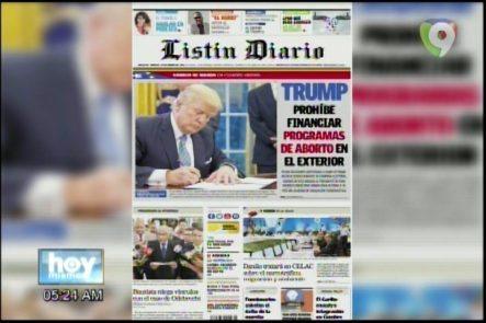 Portada De Los Periódicos Del Día De Hoy 24 – Enero- 2017