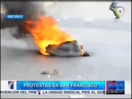 """Continúan Las Protestas Por """"No Ha Lugar"""" Favoreciendo A Félix Bautista"""