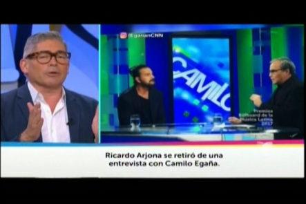 Ricardo Arjona Da Una Conferencia De Prensa Para Promover Su Nuevo Disco Y Para Explicar Lo Que Le Pasó Con Periodista CNN