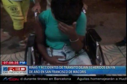 Riñas Y Accidentes De Tránsito Dejan 10 Heridos En Fin De Año En SFM