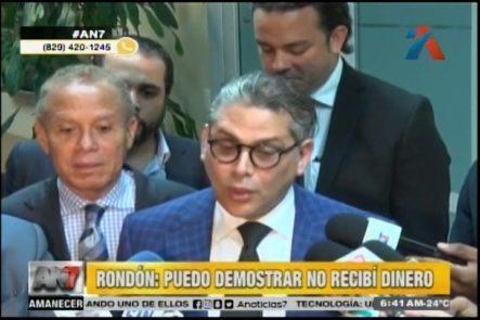 """Angel Rondón Dice Demostrará Que No Recibió Dinero Y Hará Declaraciones """"Contundentes"""""""