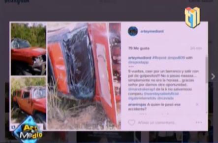 Nipo Sufre aparatoso accidente de transito #Video