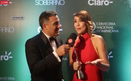 Entrevista A Mariasela Álvarez En El Detrás De Cámara De Premios Soberano