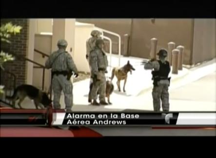 Momentos De Tensión En Base Aérea De Andrews Con Un Hombre Armado