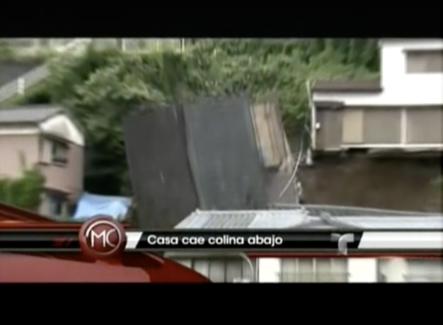 Una Casa Cae Colina Abajo En Japón Luego De Ser Evacuada Por Las Autoridades