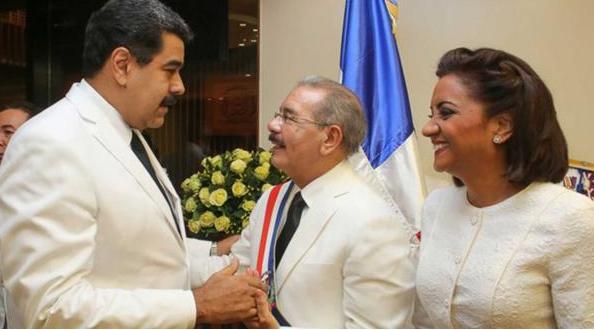 Danilo Medina y nicolas maduro