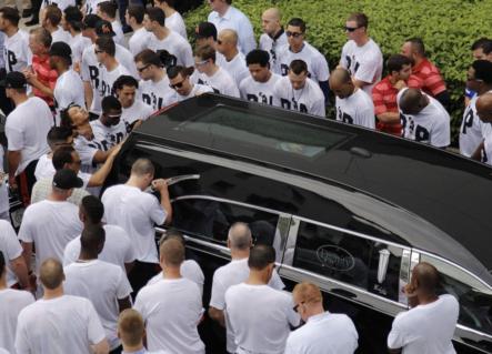 Secuencia Fotográfica de El último adiós en Miami al beisbolista cubano José Fernández