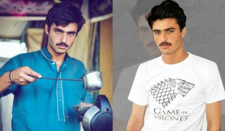 Furor en Instagram: pasó de vendedor callejero de té a modelo