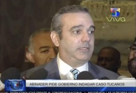 Luis Abinader da declaraciones sobre el caso de los super tucanos