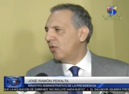 José Ramon Peralta: Ya los funcionarios no usan tarjetas de crédito ni Jeepetas lujosas por que está prohibido