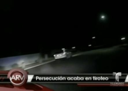 Queda grabado peligrosa persecución de una patrulla a un hombre armado