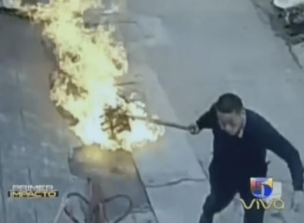 ¿Que Hacer Si Tu Tanque De Gas Se Incendia? Este Chino Te Enseña Como Salvar Tu Vida En Casos Como Este