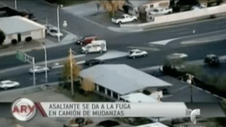 Asaltante Se Da A La Fuga En Camión De Mudanzas