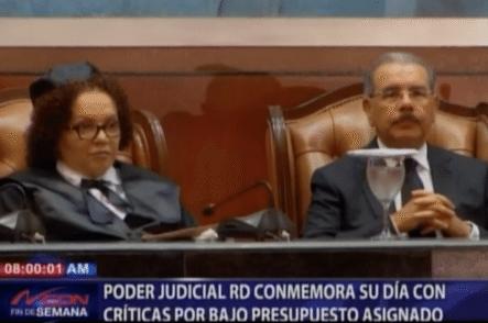 Poder Judicial RD Conmemora Su Día Con Críticas Bajo Presupuesto Asignado
