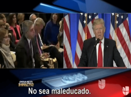 Vea Como Donald Trump Manda A Callar A Periodista De CNN Y Le Dice Mal Educado