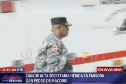 Dan De Alta Secretaria Herida En Emisora San Pedro De Macoris
