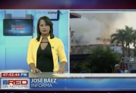 Se Incendia Hotel En La Romana Y Los Bomberos Luchan Contra Las Llamas