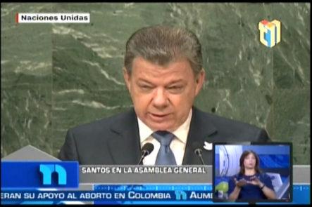 El Presidente De Colombia Dijo Que La Guerra En Su País Terminó