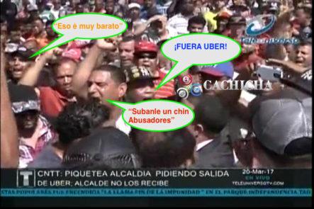 """Se """"Revoltean"""" Miembros De La CNTT, Picotean La Alcaldía Para Que Abel Martinez Retire A Los UBER De Las Calles"""