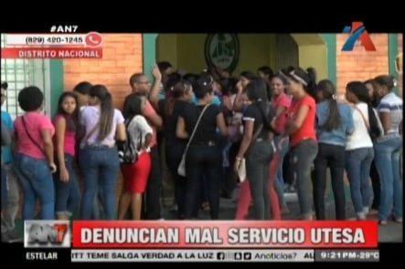 Estudiantes Denuncian El Mal Servicio De UTESA