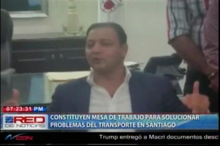 Constituyen Mesa De Trabajo Para Solucionar Problemas Del Transporte En Santiago