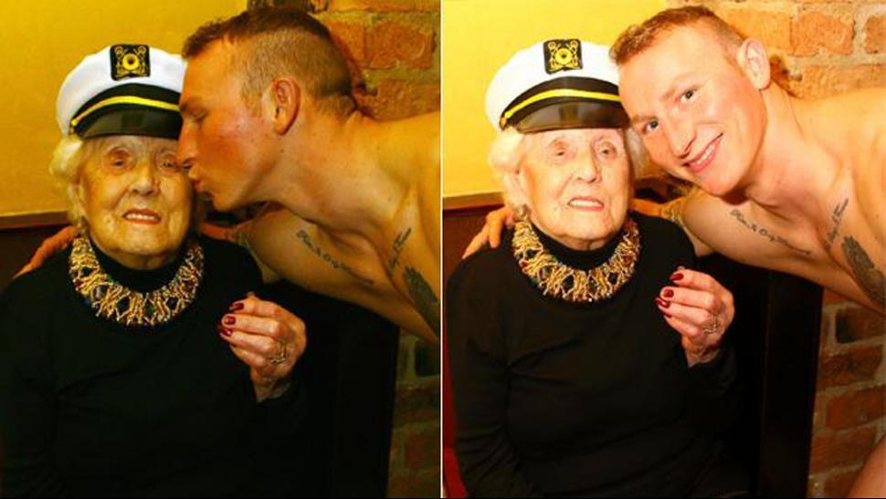 Una familia inglesa contrató a un stripper para los 100 años de la abuela