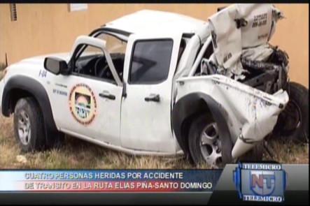 Cuatro Personas Heridas Por Accidente De Transito En La Ruta Elias Piña Santo Domingo