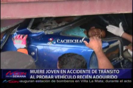 Muere Joven En Accidente Al Probar Carro Recién Adquirido