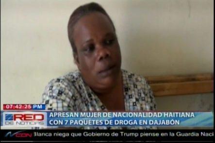 Detienen Mujer De Nacionalidad Haitiana Con 7 Paquetes De Mariguana