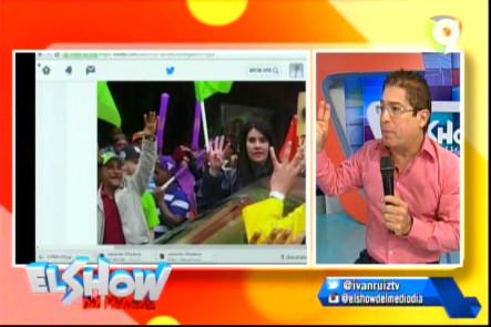 Comentarista Del Show Del Mediodía Hablan Sobre El Montaje Con Una Foto De Alicia Ortega