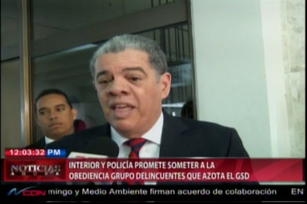 Interior Y Policía Promete Someter A La Obediencia Grupo De Delincuentes Que Azota El Gran Santo Domingo