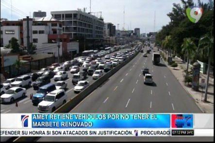 AMET Retiene Vehículos Por No Tener El Marbete Renovado