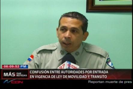Confusión Entre Autoridades Por Entrada En Vigencia De Ley De Movilidad Y Tránsito