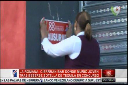Cierran Bar Donde Murió Joven Que Perdió La Vida Tras Tomar Una Botella De Tequila En Un Concurso
