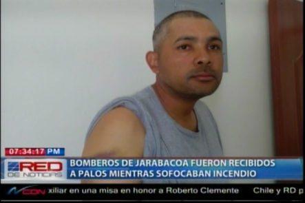 Bomberos De Jarabacoa Fueron Recibidos A Palos Mientras Sofocaban Un Incendio