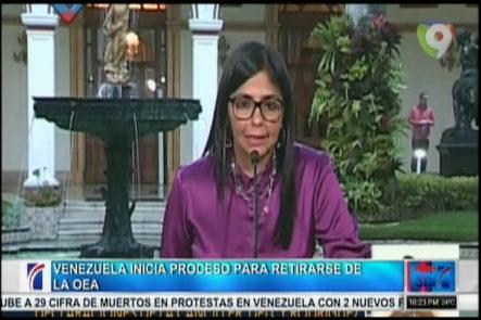 En Venezuela Se Inicia El Proceso Para Retirarse De La OEA