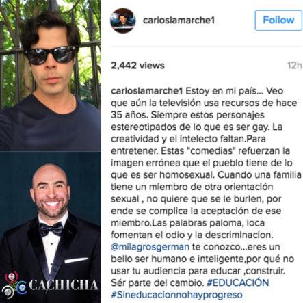 Irvin Alberti Le Responde a Carlos Lamarche por comentarios en Instagram