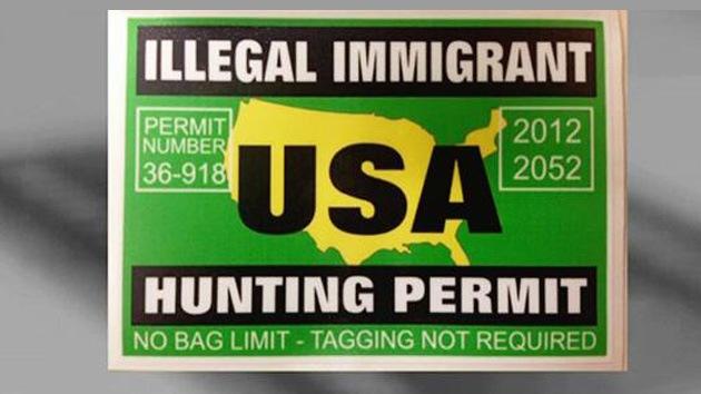 cazar inmigrantes ilegales