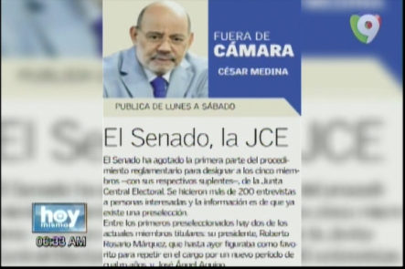 "Comentando sobre la columnba escrita por César Medina ""Fuera de Cámara"" para un periódico local con Dani Alcantara"