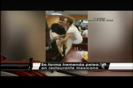 Se Arma Un Tremendo Pleito En Un Restaurante Mexicano Por Unos Nachos