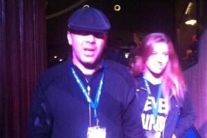 Cristian Castro de la mano con su novia Karla durante la presentación de la banda argentina en El Plaza Condesa.