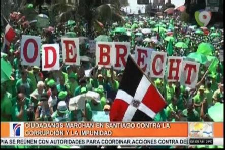 Con Pancartas Y Vestidos De Verde Personas De Todas Las Edades Apoyaron La Marcha Contra La Impunidad En Santiago