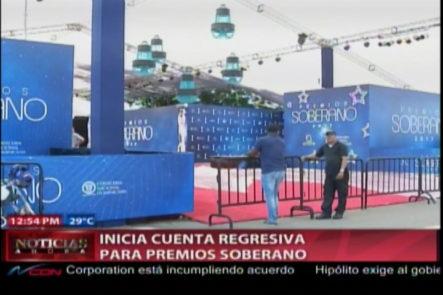 Preparativos Para Premios Soberano 2017