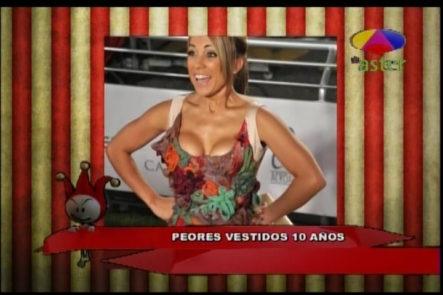"""Los Cirqueros Con El Ranking De """"Las Peores Vestidas Los últimos 10 Años"""""""